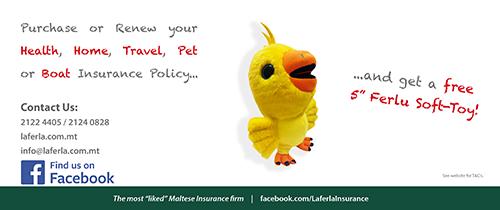 Laferla Insurance giving away Ferlu soft-toys