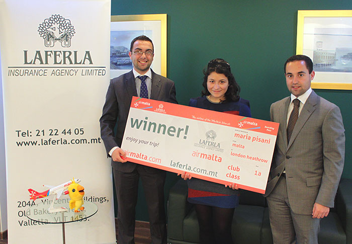 Laferla and Air Malta announce Competition Winner